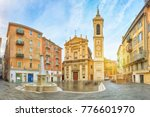 nice cathedral made in baroque... | Shutterstock . vector #776601970