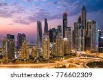dubai sunset skyline. dubai... | Shutterstock . vector #776602309