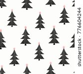 seamless pattern with christmas ... | Shutterstock .eps vector #776604244