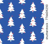 seamless pattern with christmas ... | Shutterstock .eps vector #776604250