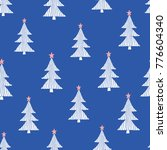 seamless pattern with christmas ... | Shutterstock .eps vector #776604340