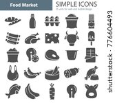 food market products simple... | Shutterstock .eps vector #776604493