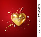 valentines day holiday... | Shutterstock .eps vector #776604994