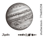 jupiter. collection of planets...   Shutterstock .eps vector #776605258