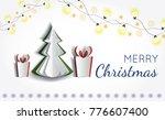 vector white paper christmas... | Shutterstock .eps vector #776607400