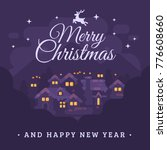 merry christmas and happy new... | Shutterstock .eps vector #776608660