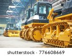 bulldozer in assembly shop in... | Shutterstock . vector #776608669