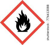 hazard sign with fire symbol... | Shutterstock . vector #776613088