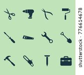 tools icons set with digging ... | Shutterstock .eps vector #776614678