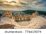 the theater of herodion atticus ... | Shutterstock . vector #776615074