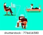 unsafe correspondence.... | Shutterstock .eps vector #776616580