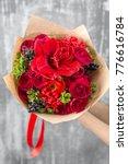 beautiful luxury bouquet of... | Shutterstock . vector #776616784
