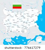 bulgaria map and flag   high... | Shutterstock .eps vector #776617279