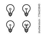 lightbulbs icon set | Shutterstock .eps vector #776623840