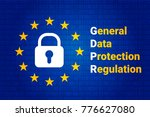 gdpr   general data protection... | Shutterstock .eps vector #776627080