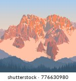 vector morning in beautiful... | Shutterstock .eps vector #776630980
