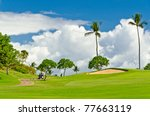 Golf Place With Gorgeous Green...