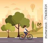 city autumn park vector...   Shutterstock .eps vector #776636314