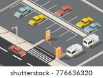 isometric parking space cars... | Shutterstock .eps vector #776636320