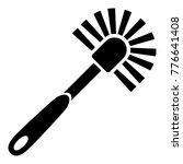 toilet brush icon. simple...   Shutterstock .eps vector #776641408