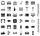 music icons set. simple style... | Shutterstock .eps vector #776641600