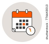 calender icon red color.... | Shutterstock .eps vector #776643013