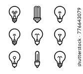 lightbulbs icon set | Shutterstock .eps vector #776643079