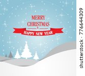 christmas greeting card with... | Shutterstock .eps vector #776644309