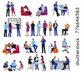 coworking people colored... | Shutterstock . vector #776646583