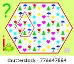 logic puzzle game. need to draw ... | Shutterstock .eps vector #776647864