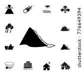 mudflow disaster icon. set of...   Shutterstock .eps vector #776649394