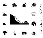 mudflow disaster icon. set of...   Shutterstock .eps vector #776651818