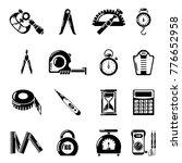 measure precision icons set.... | Shutterstock .eps vector #776652958