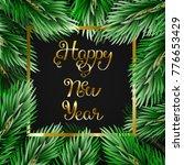 black background with fir... | Shutterstock .eps vector #776653429