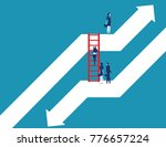 business team moving up to... | Shutterstock .eps vector #776657224
