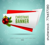 christmas origami banner with... | Shutterstock .eps vector #776657380
