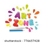 art zone colorful banner.... | Shutterstock .eps vector #776657428