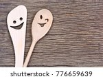 lovely wooden spoons on rustic... | Shutterstock . vector #776659639