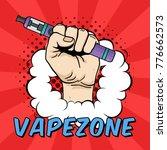 vector vape zone illustration... | Shutterstock .eps vector #776662573