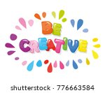 be creative cartoon colorful... | Shutterstock .eps vector #776663584