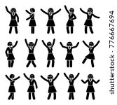 stick figure happiness  freedom ... | Shutterstock .eps vector #776667694
