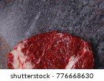 fresh raw beef meat ribeye... | Shutterstock . vector #776668630