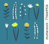 a set of cute scandinavian... | Shutterstock .eps vector #776669926