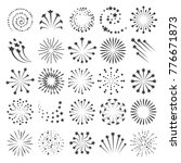new year fireworks icons.... | Shutterstock .eps vector #776671873