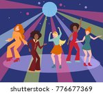 young people in 1960 1970s... | Shutterstock .eps vector #776677369