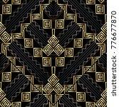 geometric striped vector... | Shutterstock .eps vector #776677870