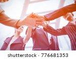 happy businesspeople teamwork... | Shutterstock . vector #776681353