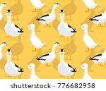 duck magpie cartoon seamless... | Shutterstock .eps vector #776682958