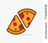 two pizza vector icon design... | Shutterstock .eps vector #776684038