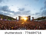 madrid   jun 24  the crowd in a ... | Shutterstock . vector #776684716